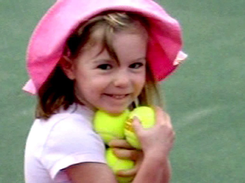 Missing British girl Madeleine McCann