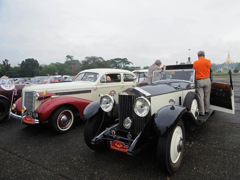 Participants prepare before the Myanmar-Burma Road Classic tour