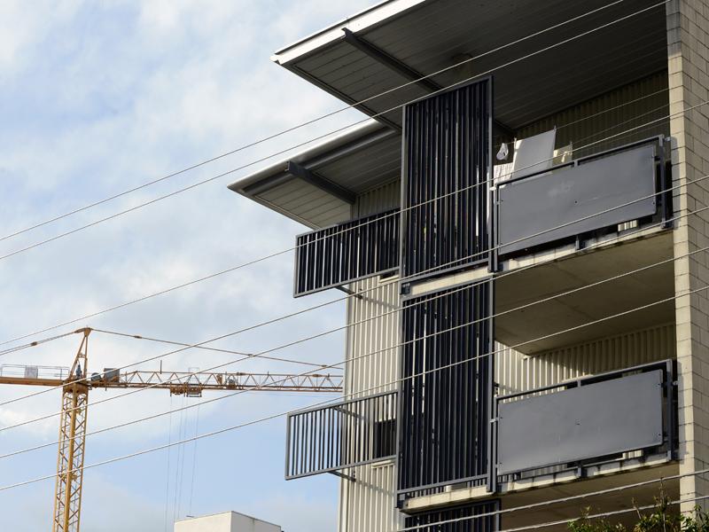 A public housing apartment block in Brisbane's inner north