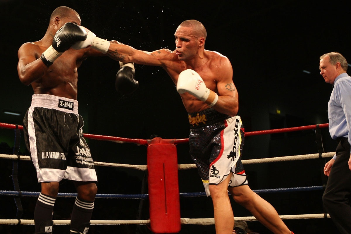 Anthony Mundine fires a straight right