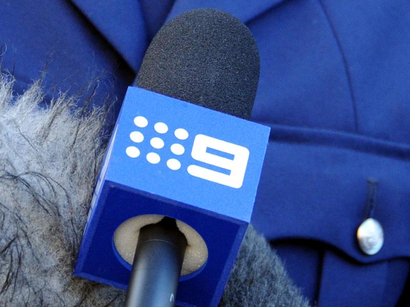 A Nine Network microphone