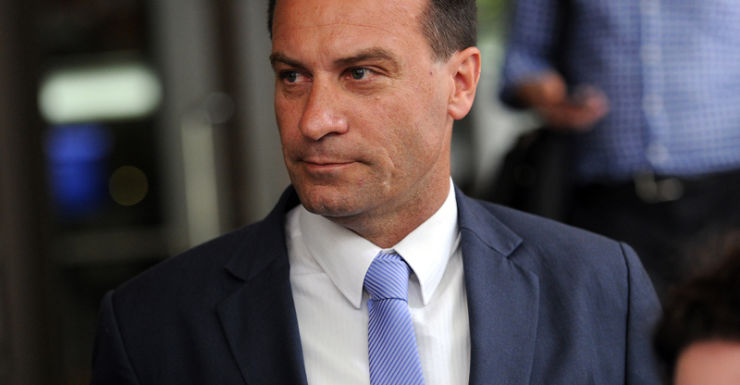 Frankston MP Geoff Shaw leaves the Melbourne Magistrates Court