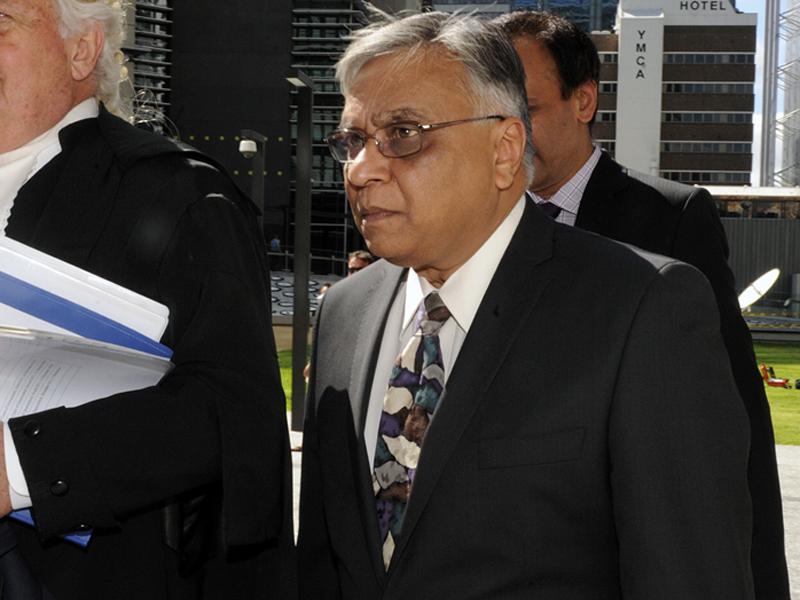 Jayant Patel arrives at the Supreme Court in Brisbane