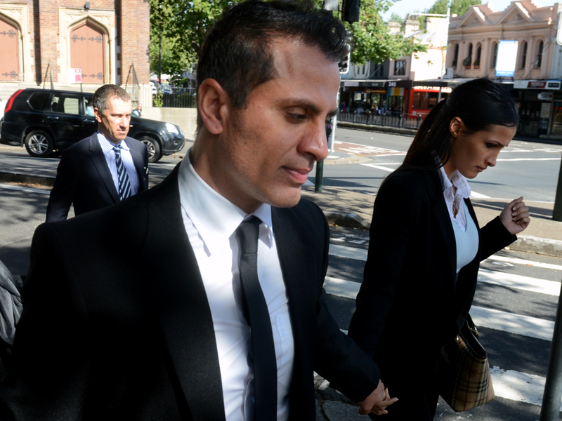 Simon Gittany leaves the Supreme Court in Sydney