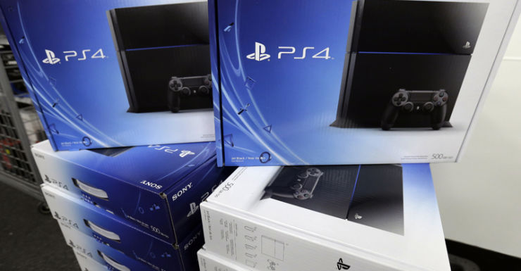 The new Sony Playstation 4 on display