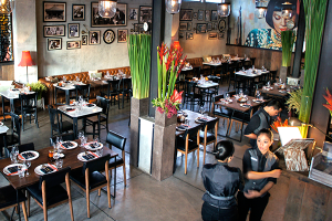 Retro-oriental restaurant Mama San.