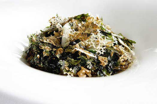 Korean green rice, seaweed, buckwheat and sesame at Quay