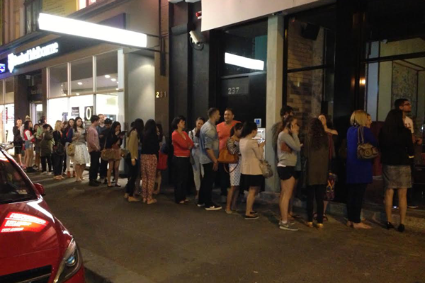 Eager fans stormed the new Melbourne store, many lining up for over an hour.