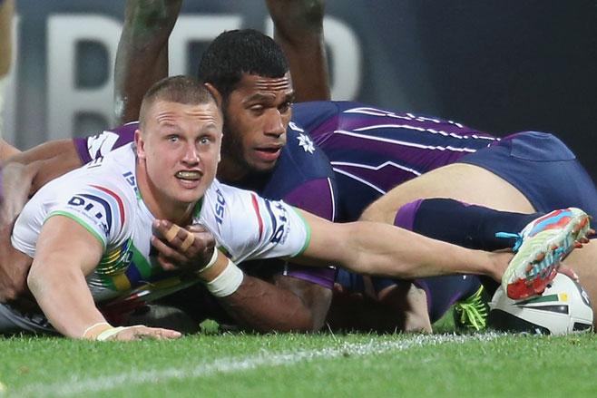Jack Wighton scores against Melbourne