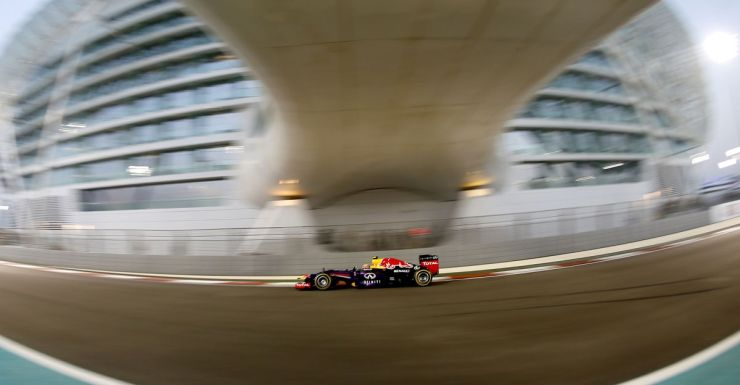 Mark Webber qualifies fastest for the Abu Dhabi Grand Prix.