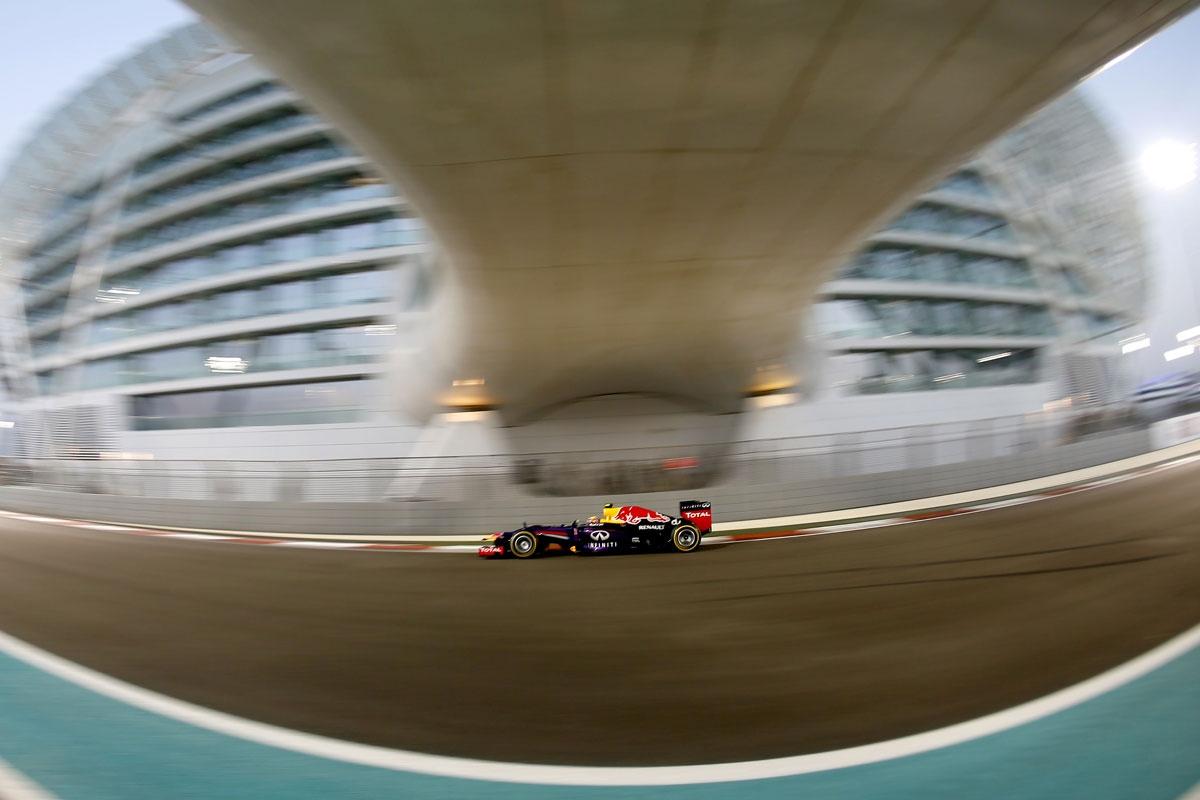 Mark Webber qualifies fastest for the Abu Dhabi Grand Prix.