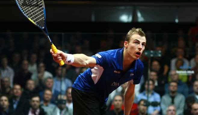 World squash champion Nick Matthew.