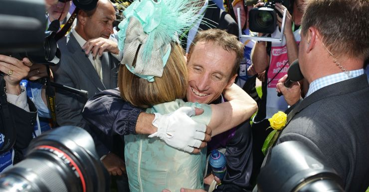 Damien Oliver and Gai Waterhouse