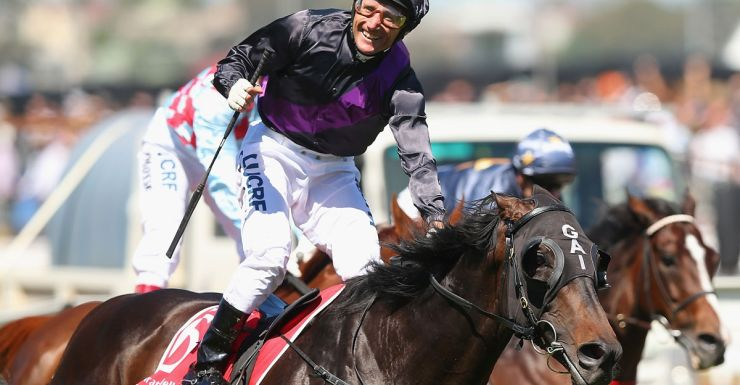Damien Oliver and Fiorente win the Melbourne Cup