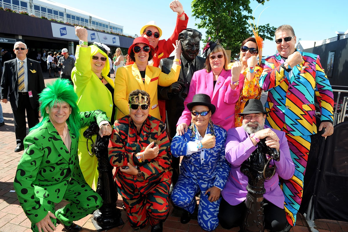 Punters arrive at Flemington Racecourse