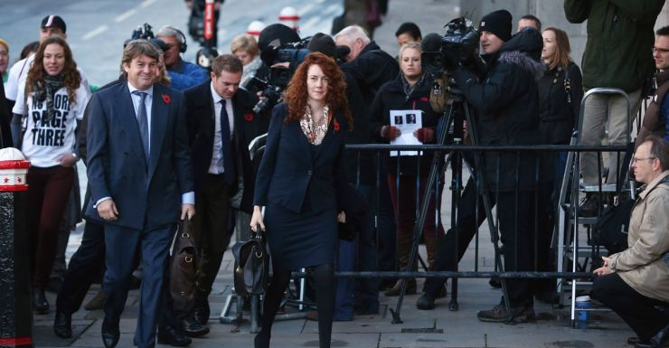 Rebekah Brooks arrives at phone hacking trial.