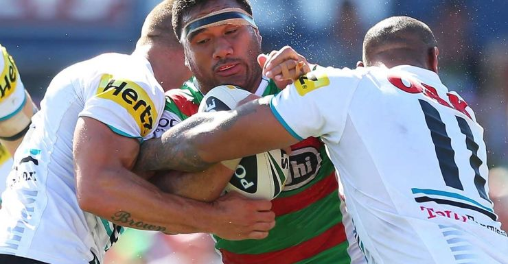 Jeff Lima in action for the Rabbitohs.