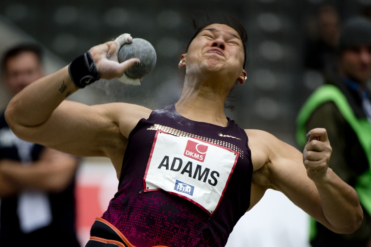 New Zealander Valerie Adams competes in the shot put in Berlin in 2013.