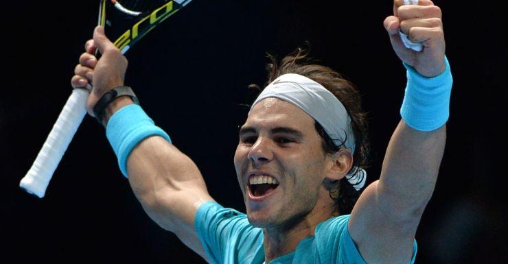 Rafael Nadal celebrates a win