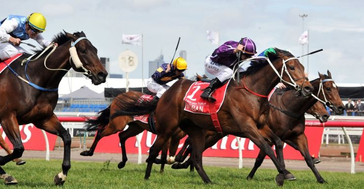 Boban wins the Emirates Stakes