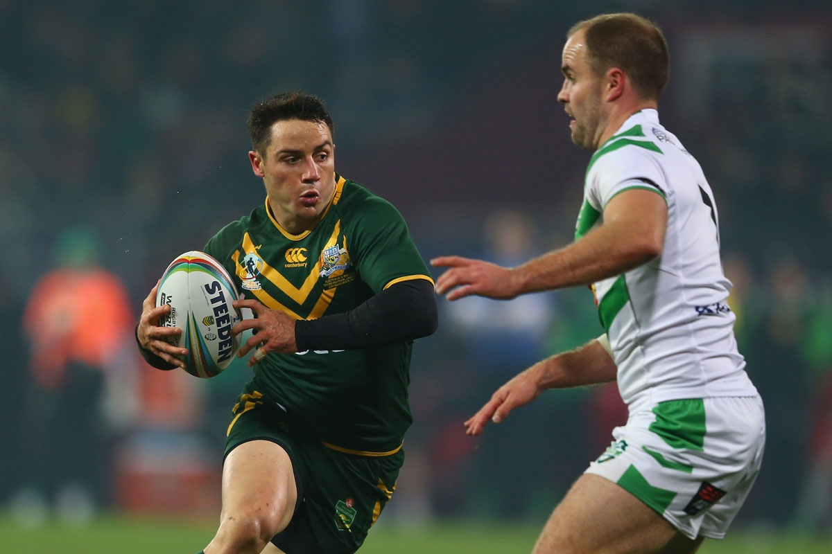 Australia's Cooper Cronk and Ireland's Liam Finn ended best of friends.
