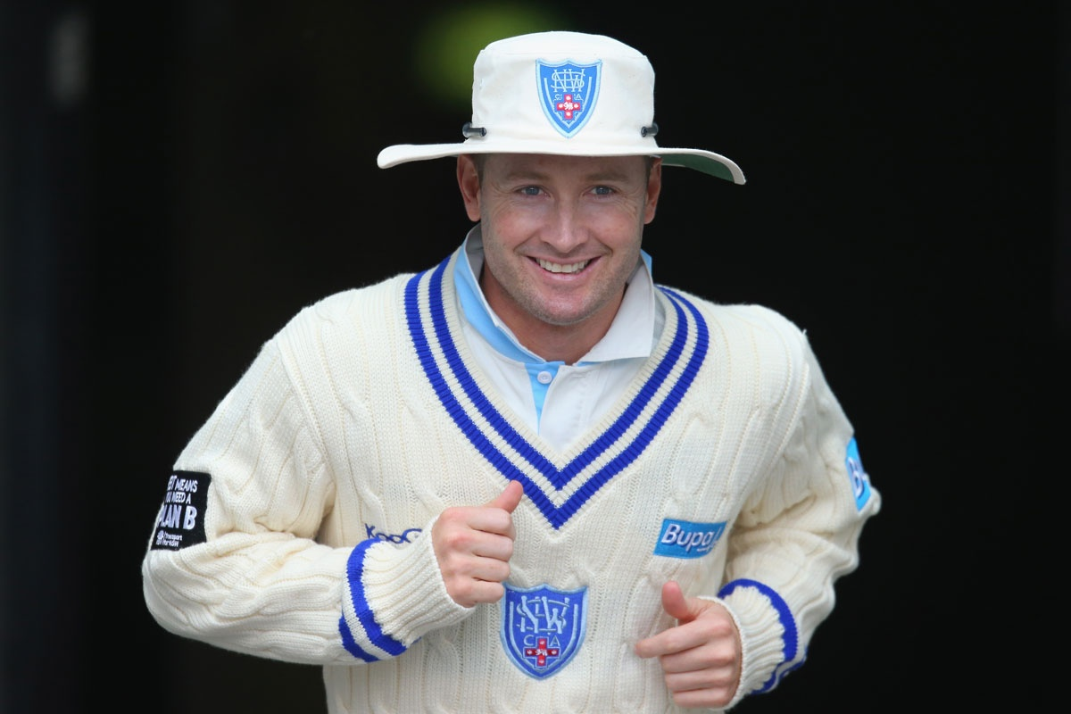 Michael Clarke during the recent Shield match against Victoria.