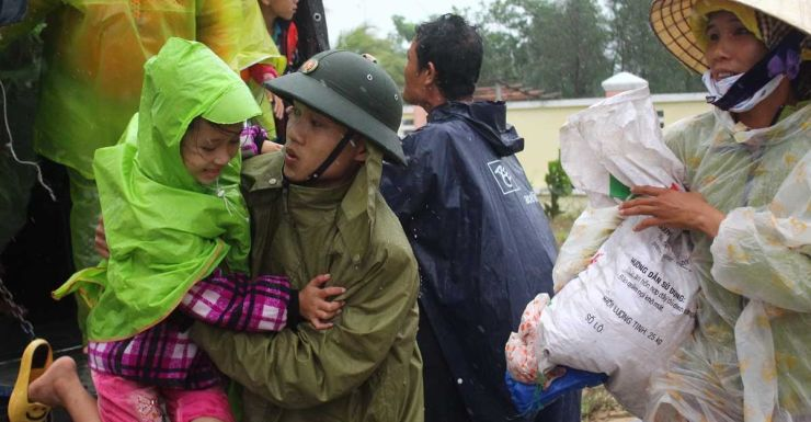 Villagers are evacuated as Vietnam prepares for Typhoon Haiyan.
