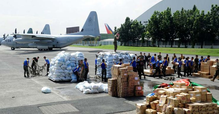 Haiyan, Philippines aid