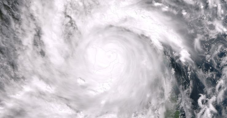 Super Typhoon Haiyan moves over the Philippines.