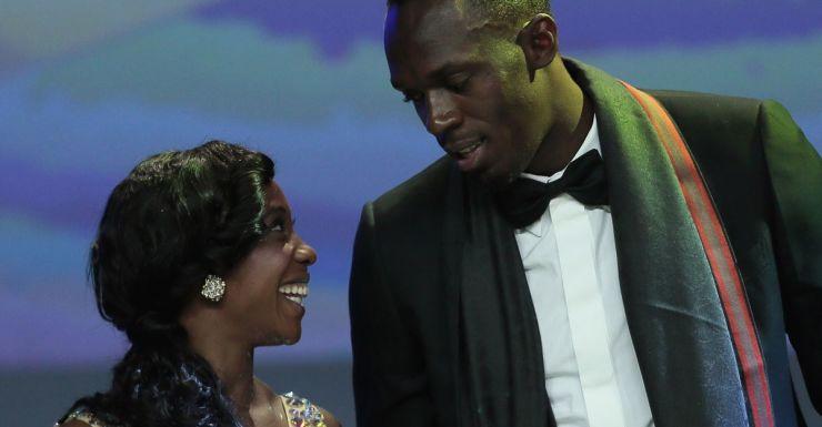 Jamaican sprinters Shelly-Ann Fraser-Pryce and Usain Bolt.