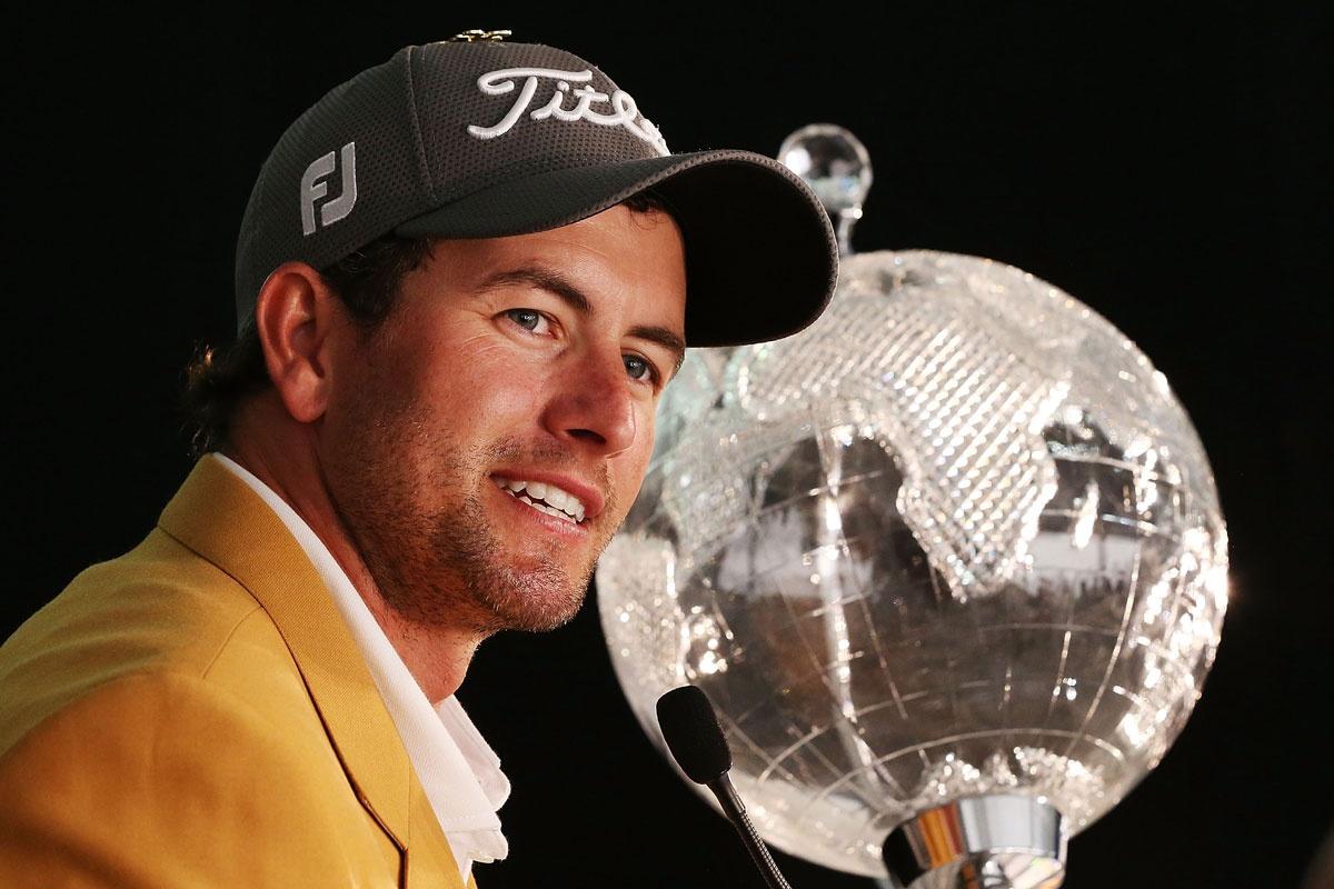 Adam Scott after winning the Australian Masters.