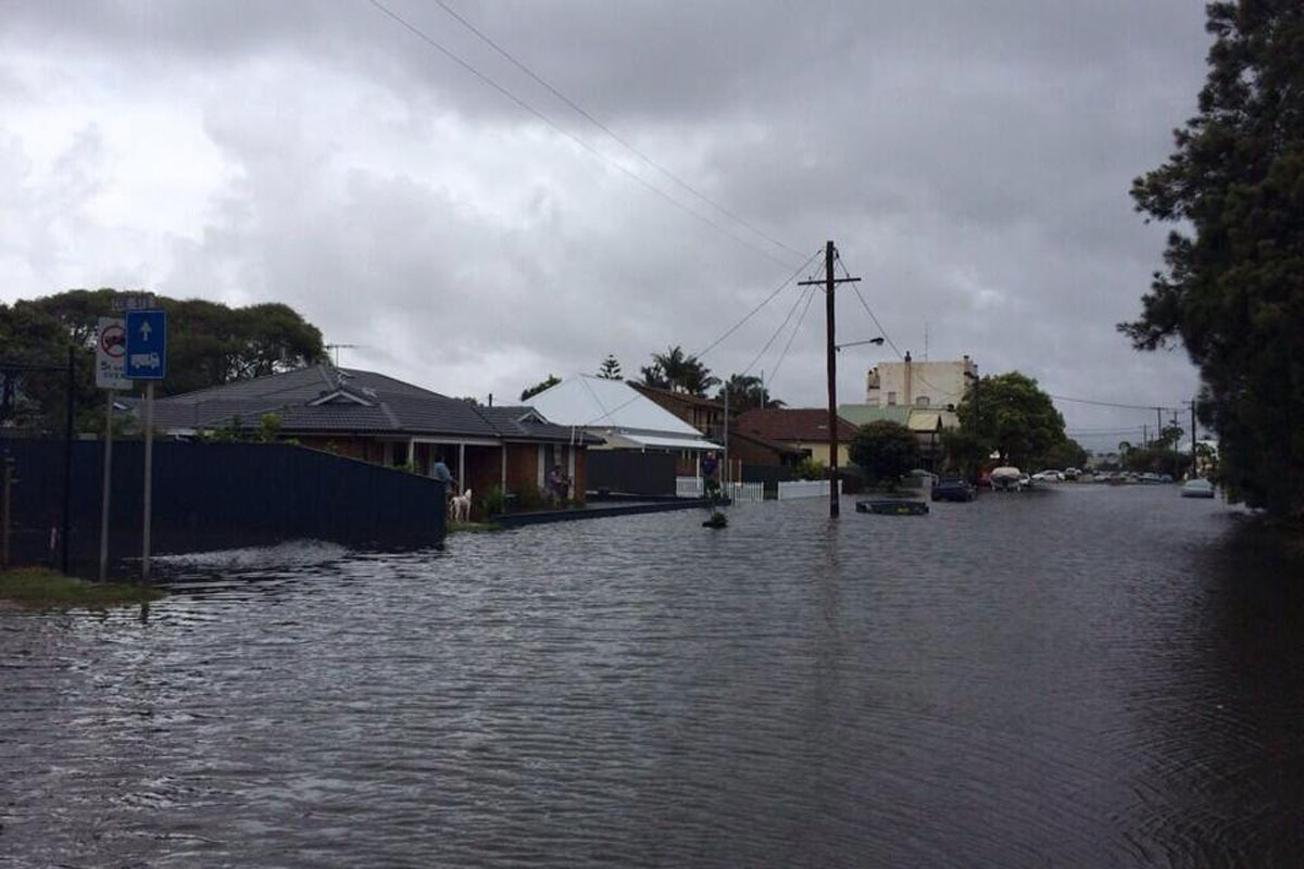Flooding in parts of Carrington and Sandgate.