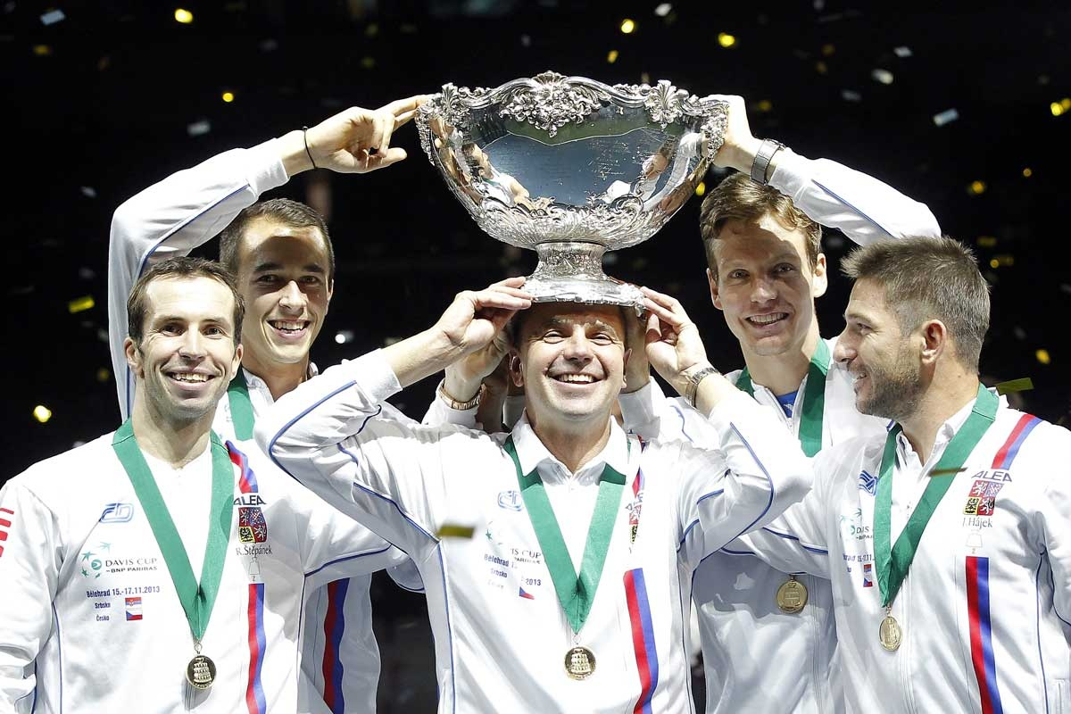 The Czech Republic's Davis Cup winning team.