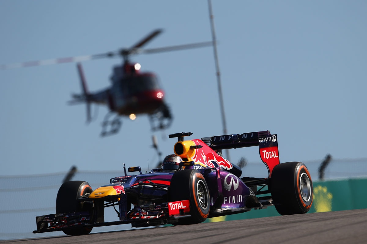 Sebastian Vettel on his way to an eighth straight F1 victory.