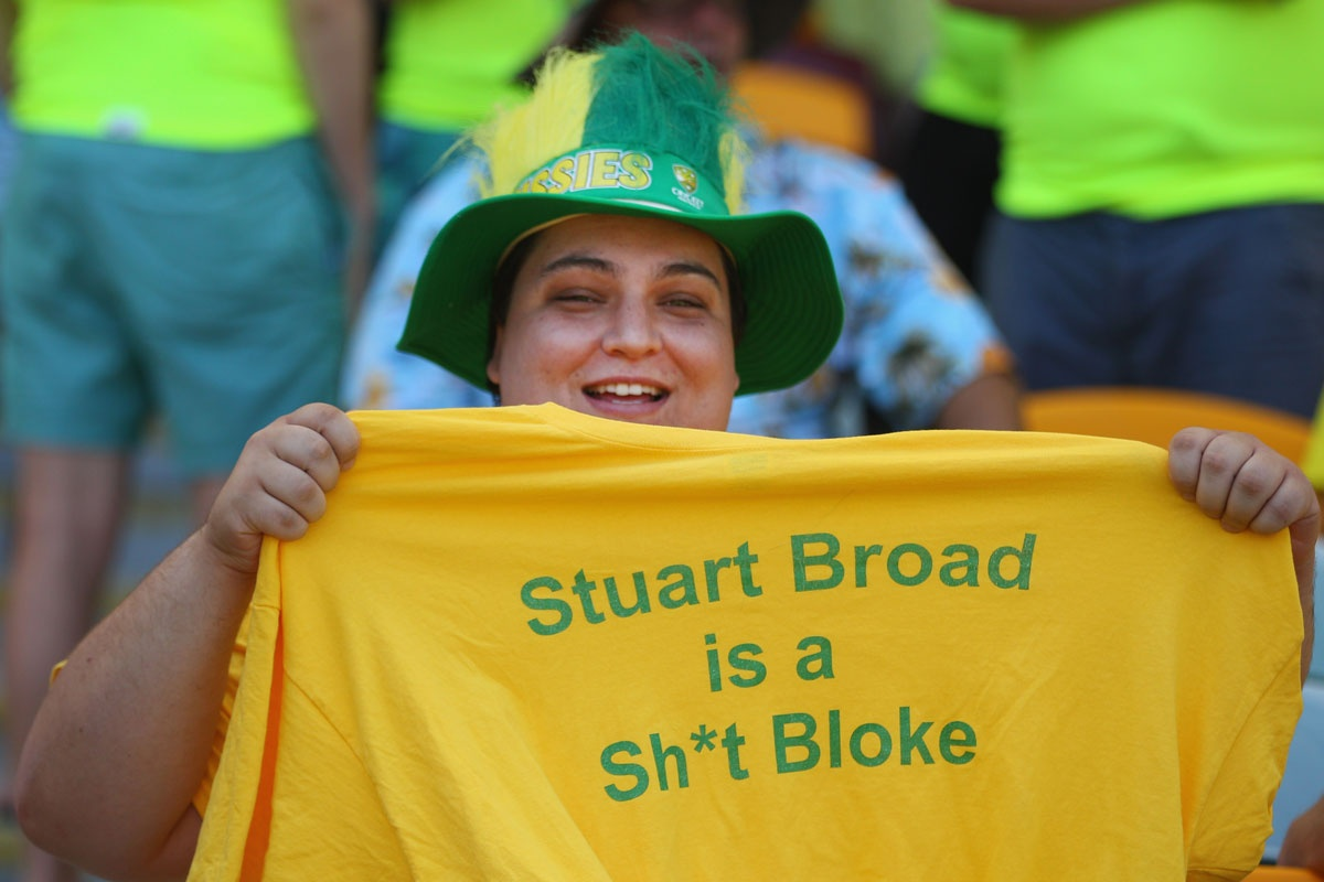 An example of the sophisticated sledging of Stuart Broad.