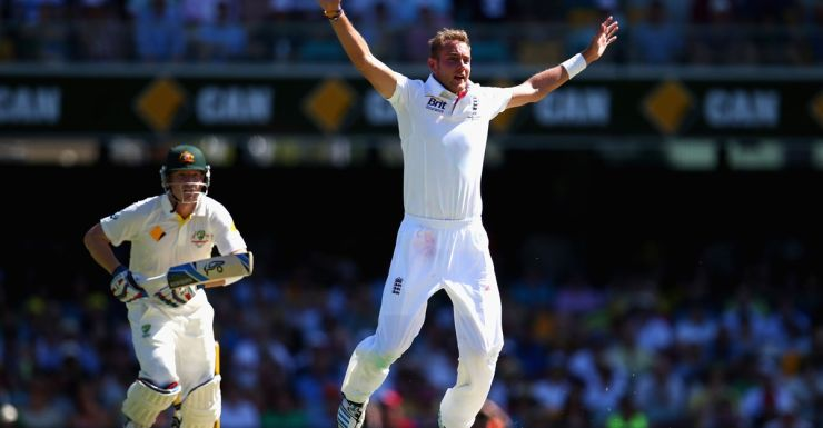Stuart Broad during his precision spell at the Gabba.