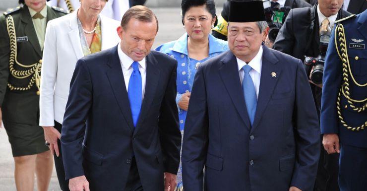 Tony Abbott and Susilo Bambang Yudhoyono