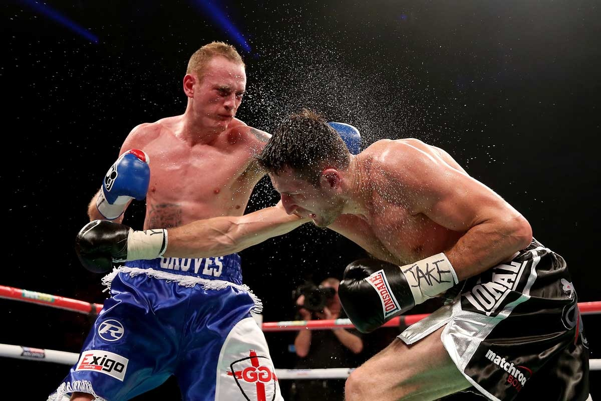 George Groves (left) and Carl Froch in action in Manchester.