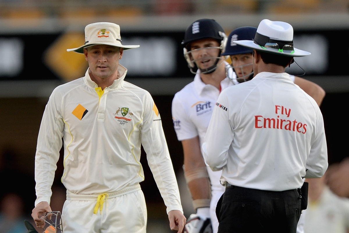 Michael Clarke: fined for outburst.