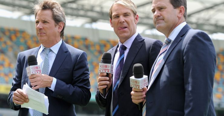 Blokesworld: Some of the Channel Nine cricket commentary team.