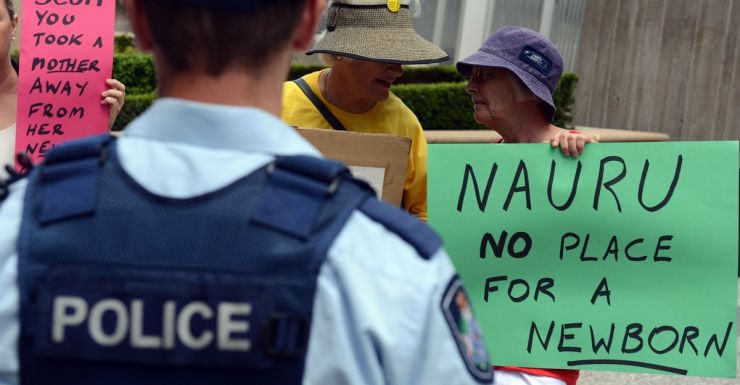 Nauru protest