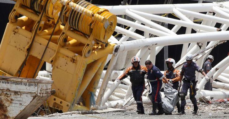 Brazil stadium crane collapse.