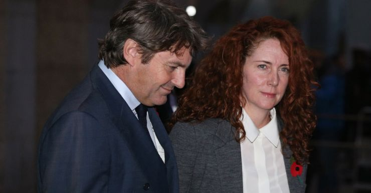 Former News International chief executive Rebekah Brooks and husband Charlie Brooks depart the phone-hacking trial