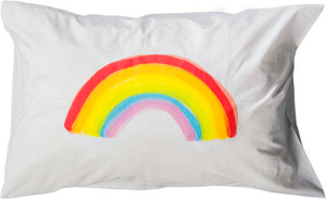 The rainbow pillowcase in partnership with Open Family.