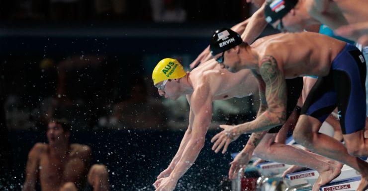 Australia's Tommaso D'Orsogna at the world short-court swimming championships.
