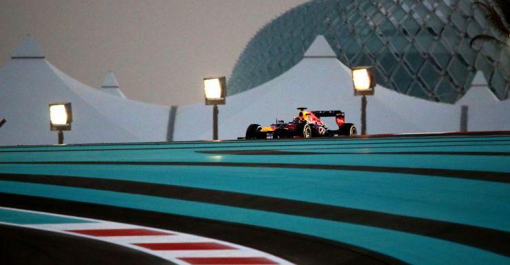 Sebastian Vettel in winning form at the Yas Marina circuit in Abu Dhabi.