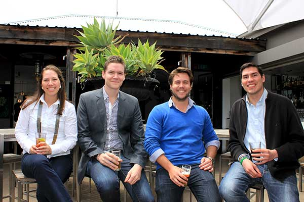 The Where To Tonight team (l-r) Camila Gonzalez, Keir McHarg, Ryan Chartres and Juan Mantilla.