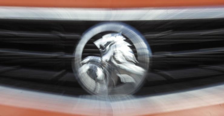 A Holden badge on a car