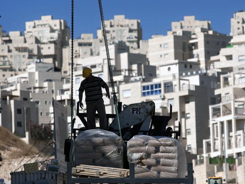A new housing unit in the east Jerusalem neighbourhood of Har Homa