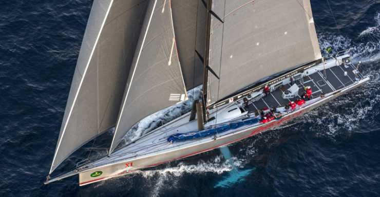 Wild Oats XI during the 2013 Sydney to Hobart yacht race